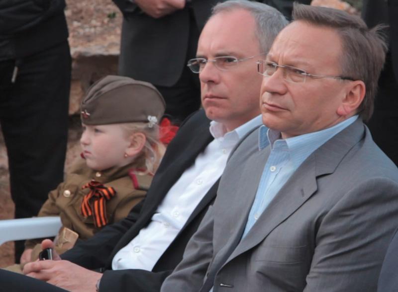 Игорь Прокопенко и Игорь Угольников на церемонии закрытия фестиваля