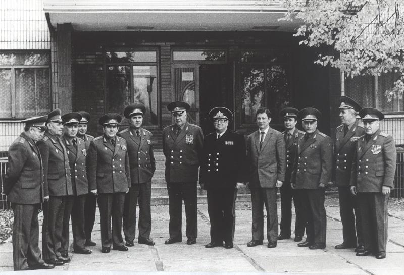 Участники совещания руководящего состава финансовой службы ВС СССР 3-5 сентября 1985 г. Учебный центр Колодищи