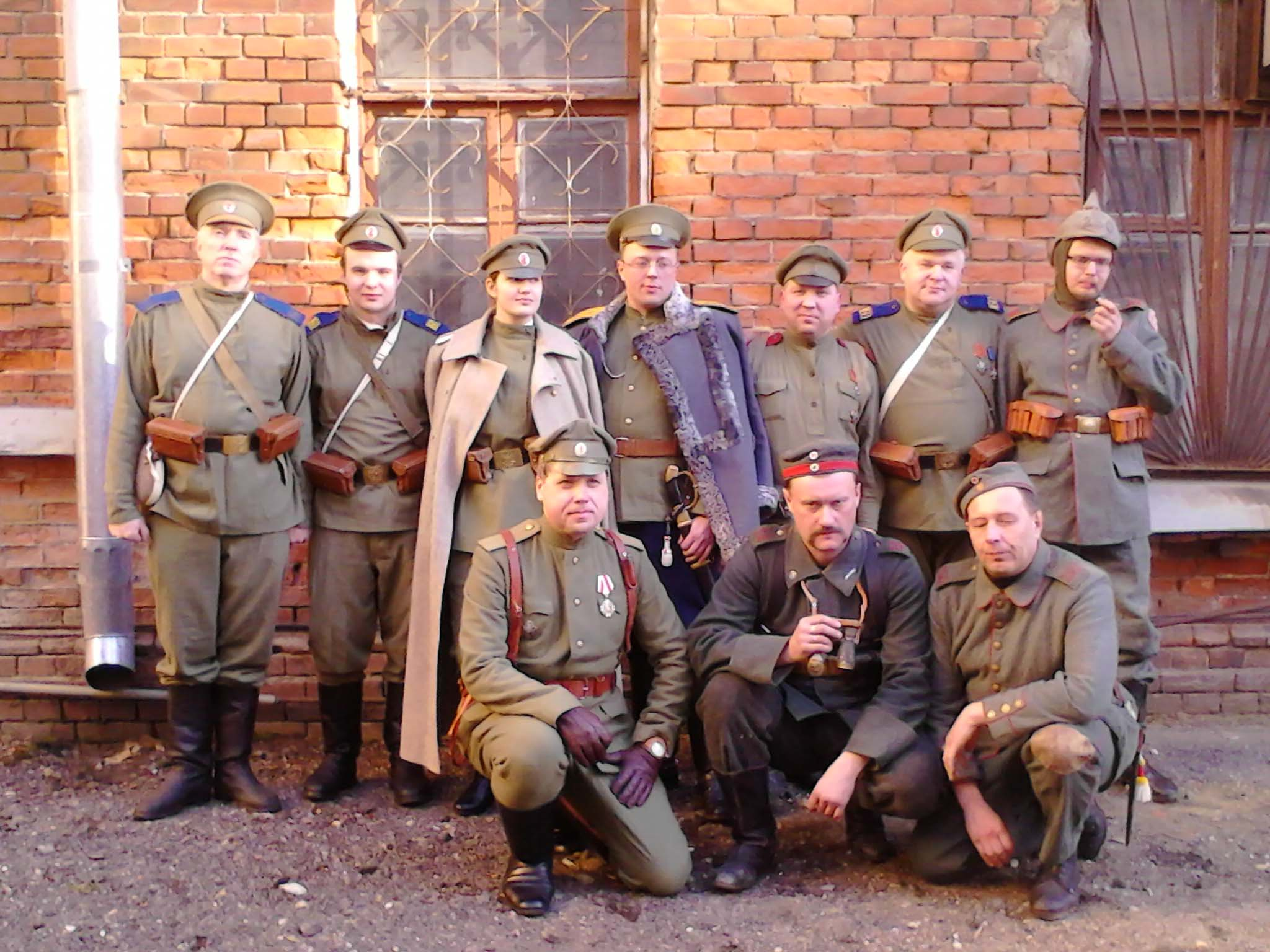 Участники театрализованной реконструкции