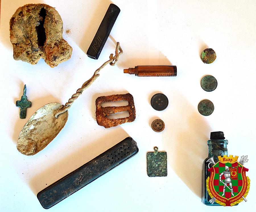 Вещи, найденные на раскопках