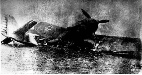 Удар по фашистскому самолету был точен