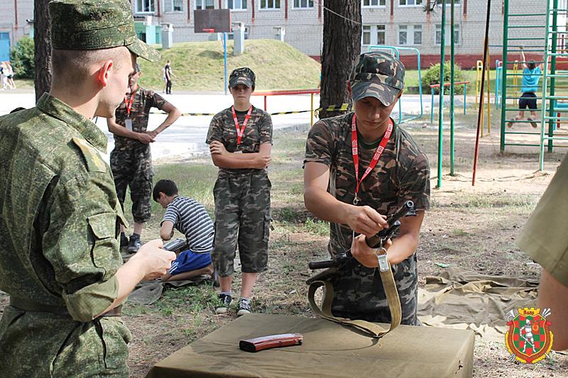 Работа военно-патриотического лагеря «Курсант-ТЫ»