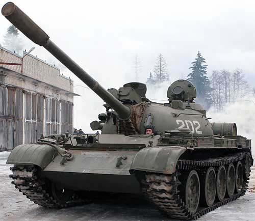 Т-55 одной из частей БВО