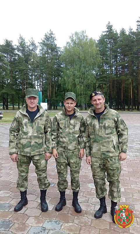 Экипаж машины боевой: Виталий Богруденко, Дмитрий Cолдатенко и Сергей Михно