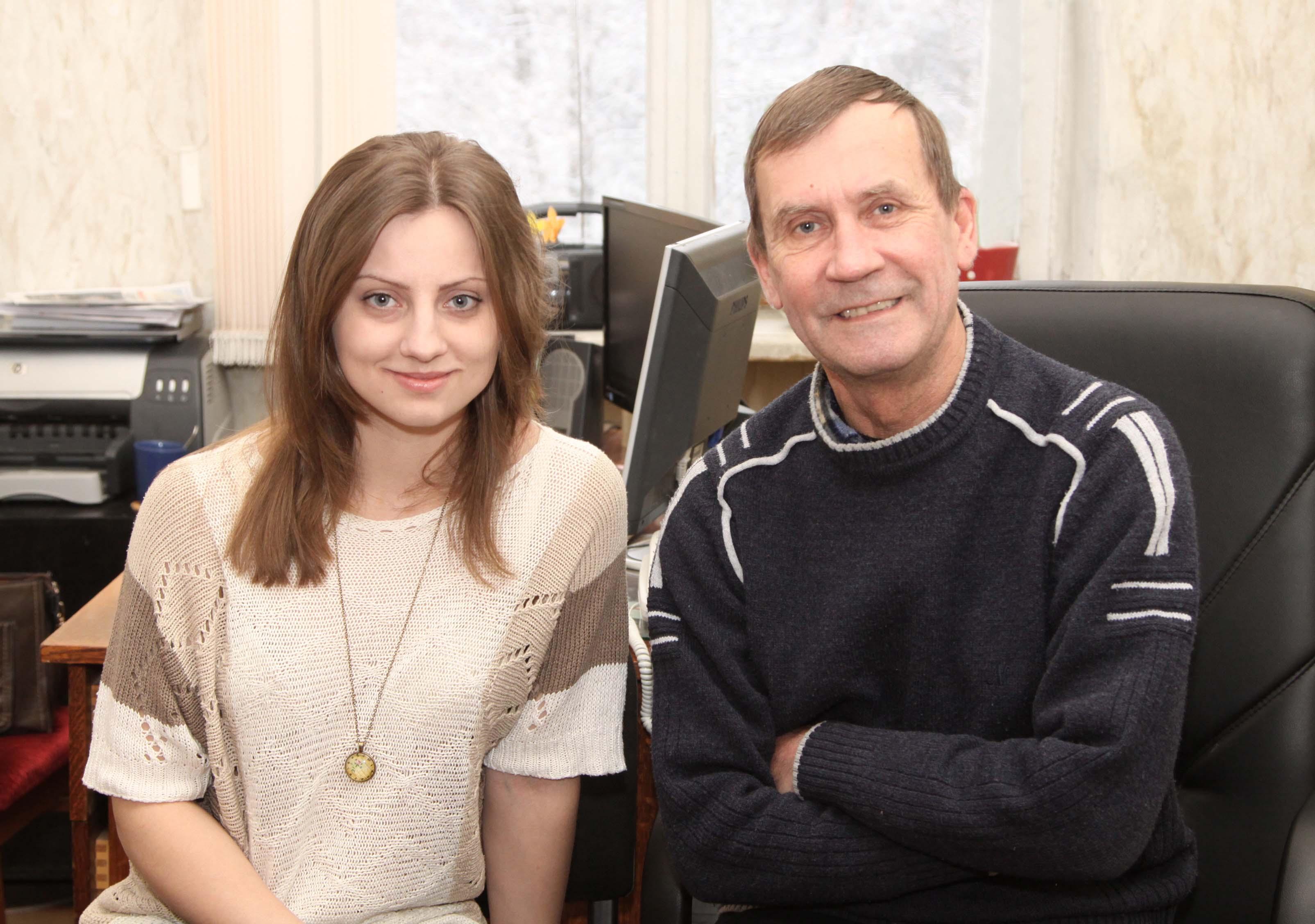 Игорь Шелудков с ответственным секретарем газеты «Время патриотов» Еленой Парсюкевич. 2016 год