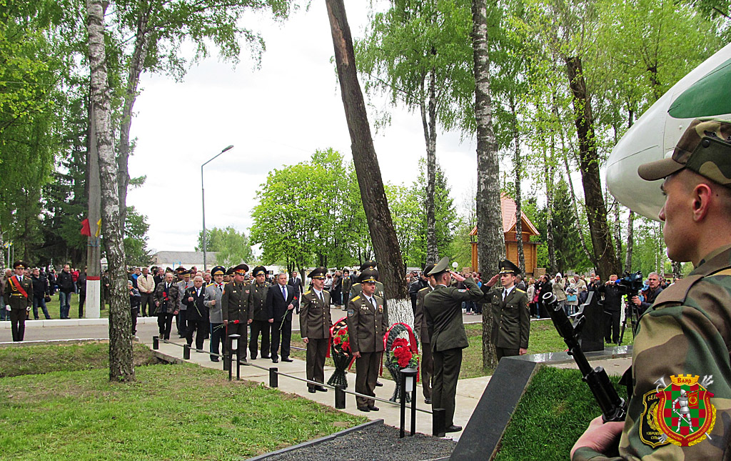 Отдание почестей павшим воинам-«афганцам»