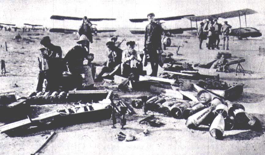 Гражданская война, подготовка вооружения к установке на самолеты. 1919 год
