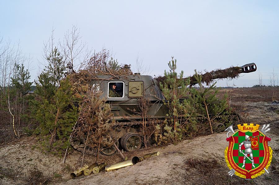 Самоходная гаубица 2С3 Акация на огневой позиции (3)